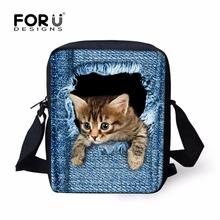 Fashion Women Casual Handbags Shoulder Bags,Cute 3D Cat Animal Lady Crossbody Messenger Bag,Children Mochila Infantil School Bag(China (Mainland))