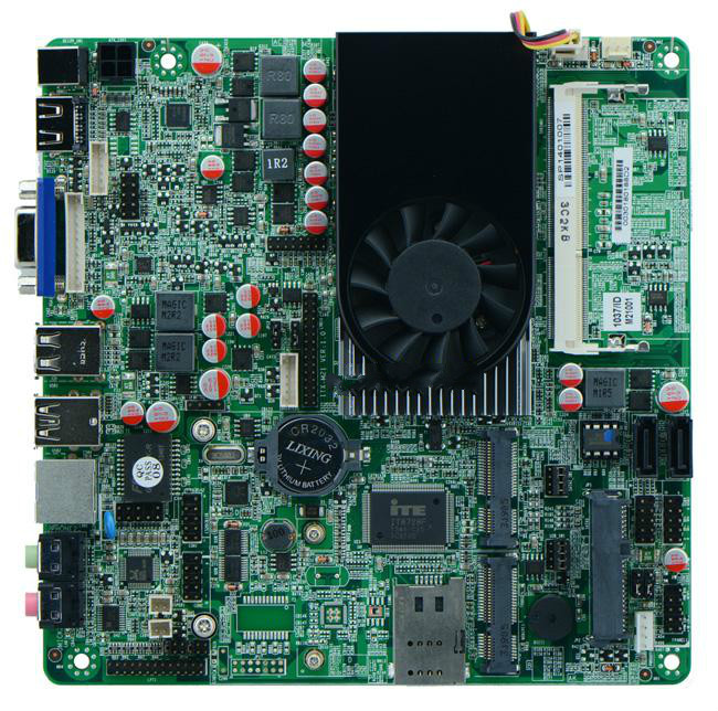 Motherboard for Celeron dual-core industrial mini-1037U board double 8LVDS Nano motherboard,1 years warranty(China (Mainland))