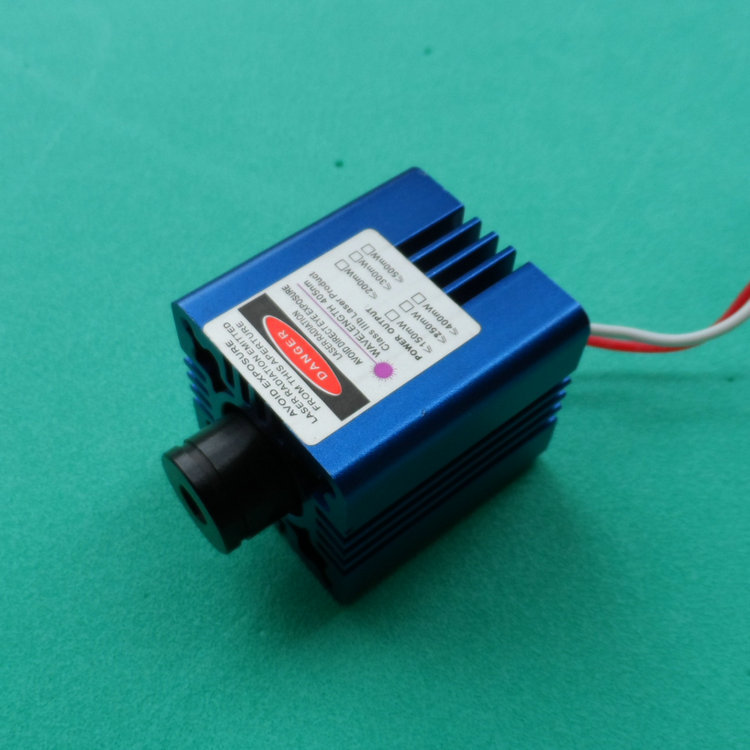 Фотография Free Shipping Q-LINE 405nm 200mW Blue Purple Beam Laser Module/ Adjustable Focusing / 3-5V Input