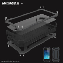 Luxury Gundam waterproof and shockproof aluminum metal armor sets for iPhone 5 5S SE 6 6s case glass protection