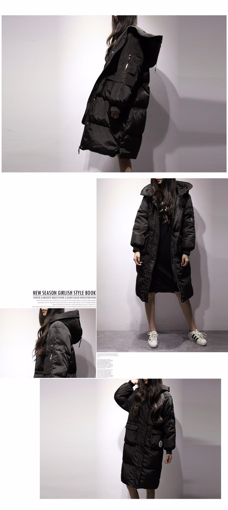 Скидки на 2016 Новый Женщины зимняя Мода X-Long Зимнее Пальто Женщин Куртки Женщин С Верхней Одежды Женщин