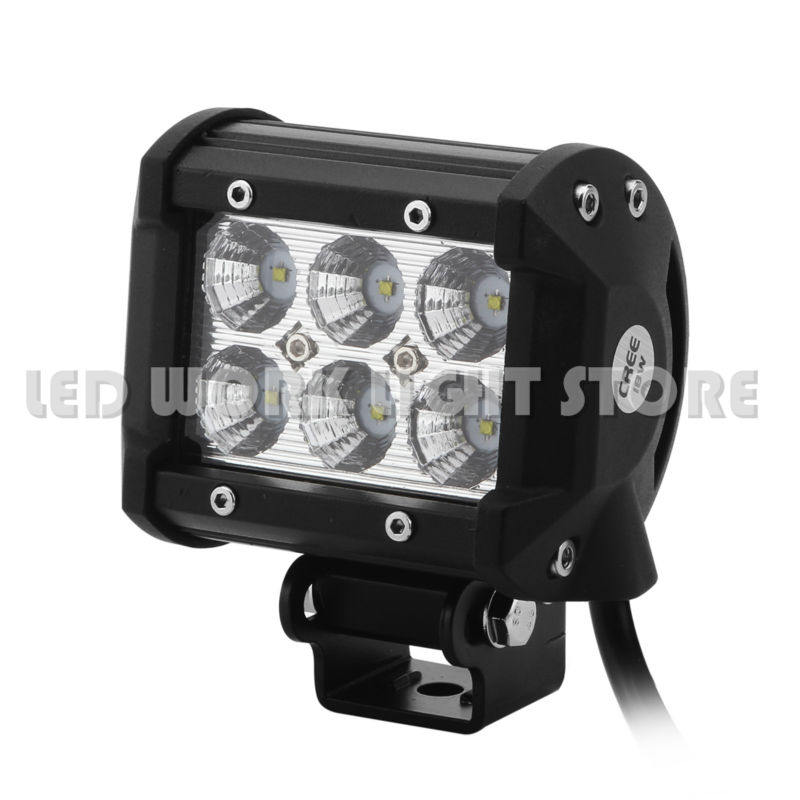 4INCH CREE 18W FLOOD BEAM LED WORK LIGHT BAR DRIVING LIGHT FOR SUV UTE 4X4 OFFROAD CAR BOAT TRUCK SAVED ON 36W/72W(China (Mainland))