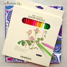 adult coloring books +24 color pencil Relieve Stress Kill Time Korea Mandalas Graffiti Drawing Book libro colorear adultos(China (Mainland))