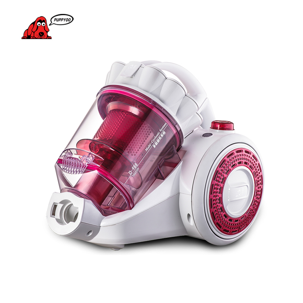 PUPPYOO Best Selling &low noise Domestic Mites Vacuum Cleaner For Home Aspirator Powerful Suction Dust Collector D-988()