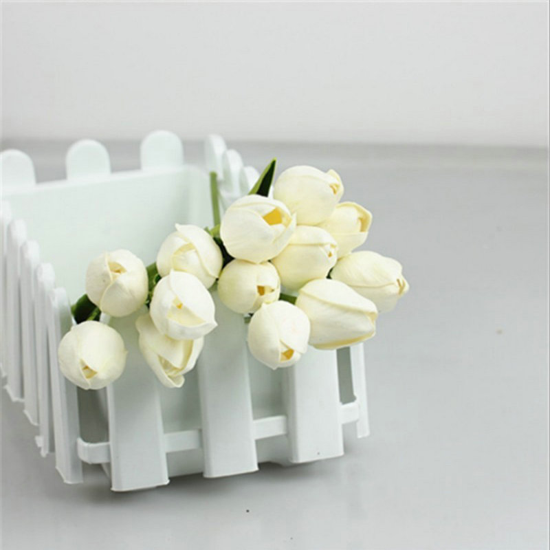 30pcs lot Tulip Artificial Flower 2015 PU artificial bouquet Real touch flowers For Home decoration Wedding