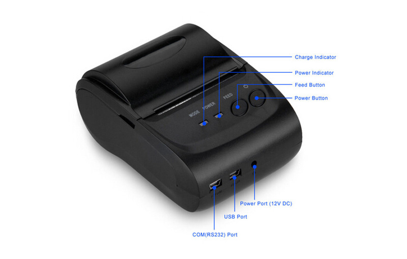 5802DD Bluetooth Wireless Mobile 58mm Mini Thermal Receipt Printer Portable with SDK support Andriod and IOS(China (Mainland))