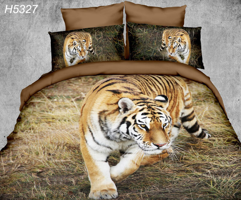 animal 3D bedding sets Digital HD bedclothes tiger 3d comforter cover bed sheet pillowcases lions 3d digital bed cover boho 5327(China (Mainland))