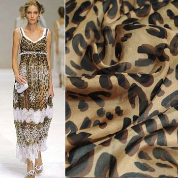 Best Selling Print Silk Fabric Chiffon  Material For Silk Dress Skirt Scarf C1555