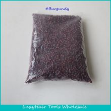 Wholesale 10000pcs/bag 5.0*3.0*3.0mm Burgundy Aluminium Silicone Lined Micro Rings/Links/Beads for Feather Human Hair Extensions(China (Mainland))