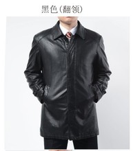 The New Winter 2015 Men's Fashion Leather Jacket Men Leisure Brand Of High-Grade Sheep Skin Man Mens Leather Jackets And Coats(China (Mainland))