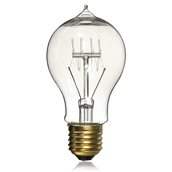 New E27 40W A19 Incandescent Vintage Antique DIY Handmade Edison Bulb Lamp Fixtures Style Filament Clear Glass Light Globe(China (Mainland))