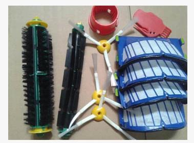 Blue AeroVac Filter+green Bristle Flexible Beater Brush for iRobot Roomba Pet edition 600 552 551 560 528 570 56708 Replacment(China (Mainland))
