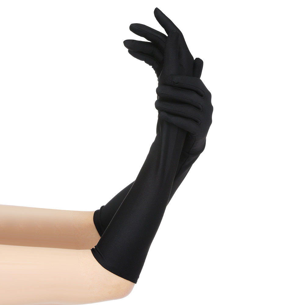 Grey Swan Women Outdoor Sun Block Soft Long Arm Sleeve Fingerless Gloves