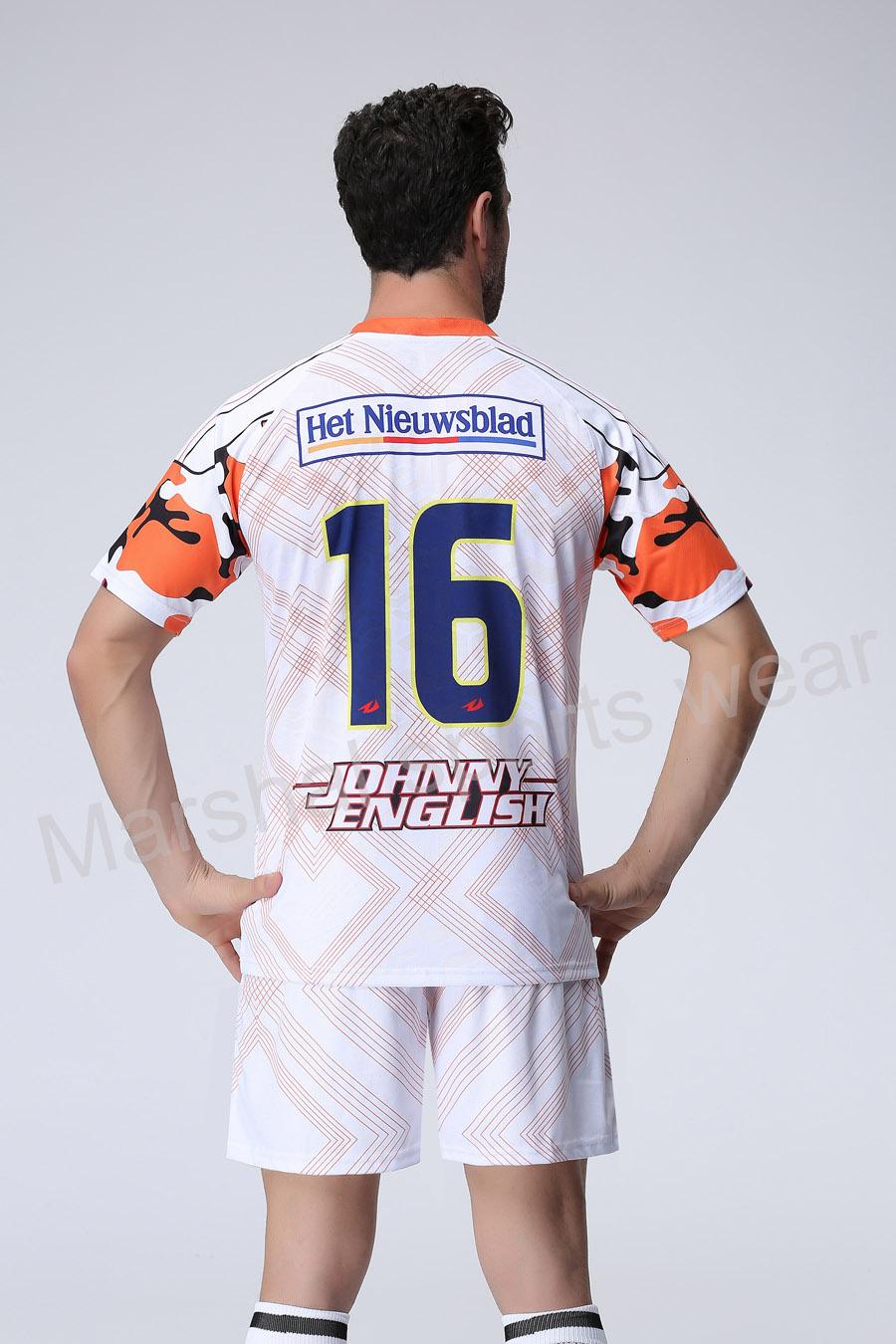 White Color soccer jersey,team soccer uniform customizing,new desgin soccer kits(China (Mainland))