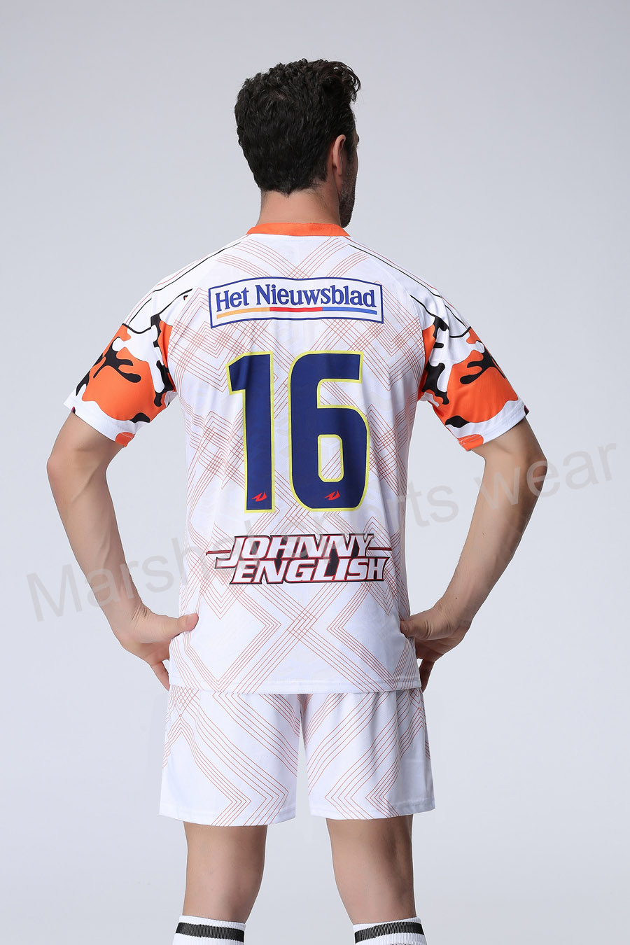 White Color soccer jersey,team soccer uniform customizing,new desgin soccer kits(China (Mainland))