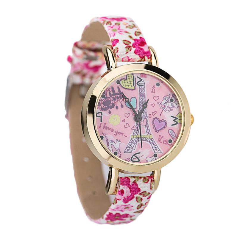 Eiffel Tower Butterfly Retro Vintage Quartz Watch Women Thin Flower Leather Strap Fashion Casual Wristwatch Ladies Dress Watches<br><br>Aliexpress