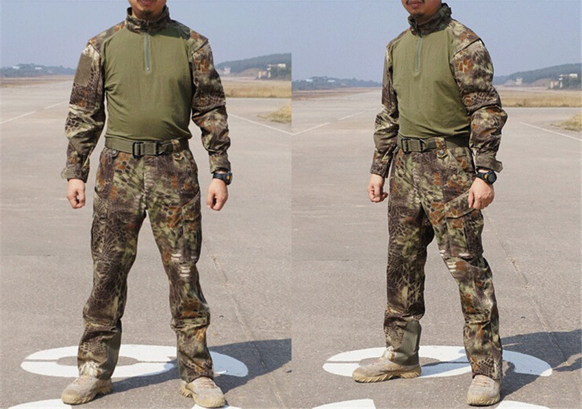 Tactical Army Military Cargo Pants Shirt, Camouflage Waterproof Airsoft Paintball BDU Uniform Combat US Men Clothing Set - Wargame Gear store