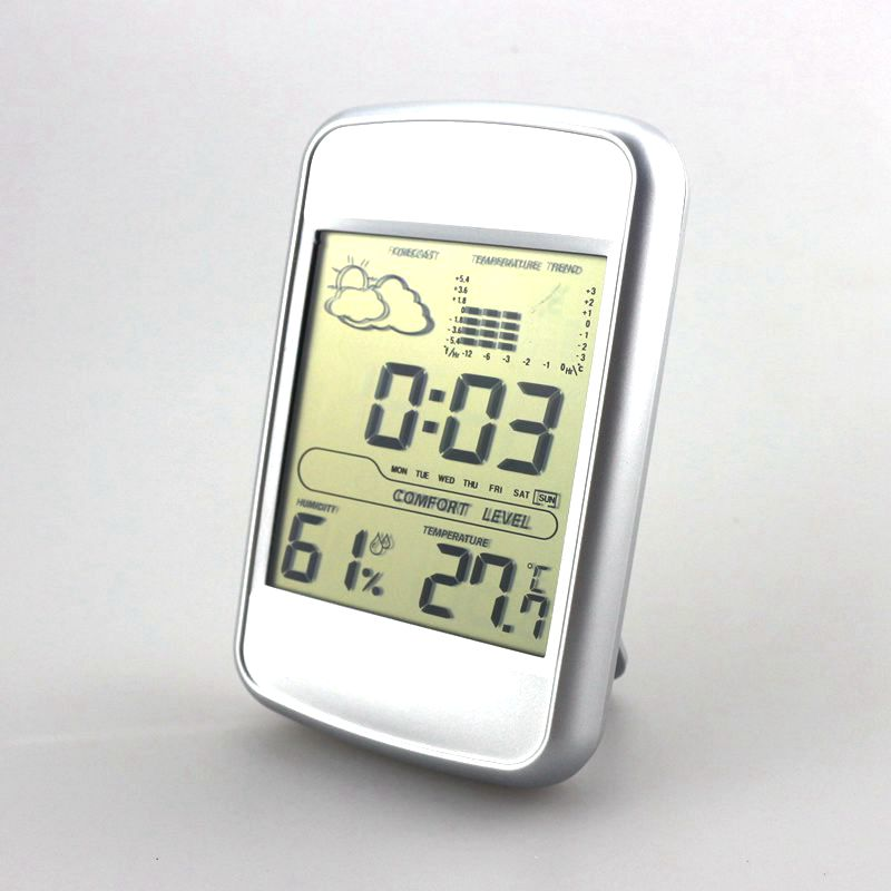 NEW Indoor weather station thermometer humidity meter Clock show temperature trend weather forecast