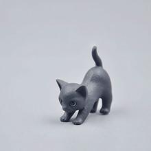 1pcs cute kitty/black cat/miniature/garden decor/gnome/fairy garden/terrarium/bonsai/a065(China (Mainland))