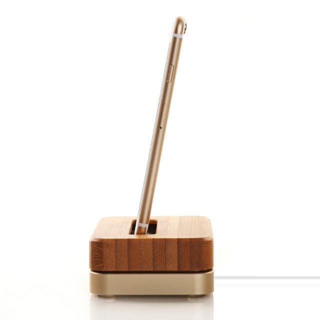 Bamboo Desktop dock for iPhone 6 6s 5s SE 7