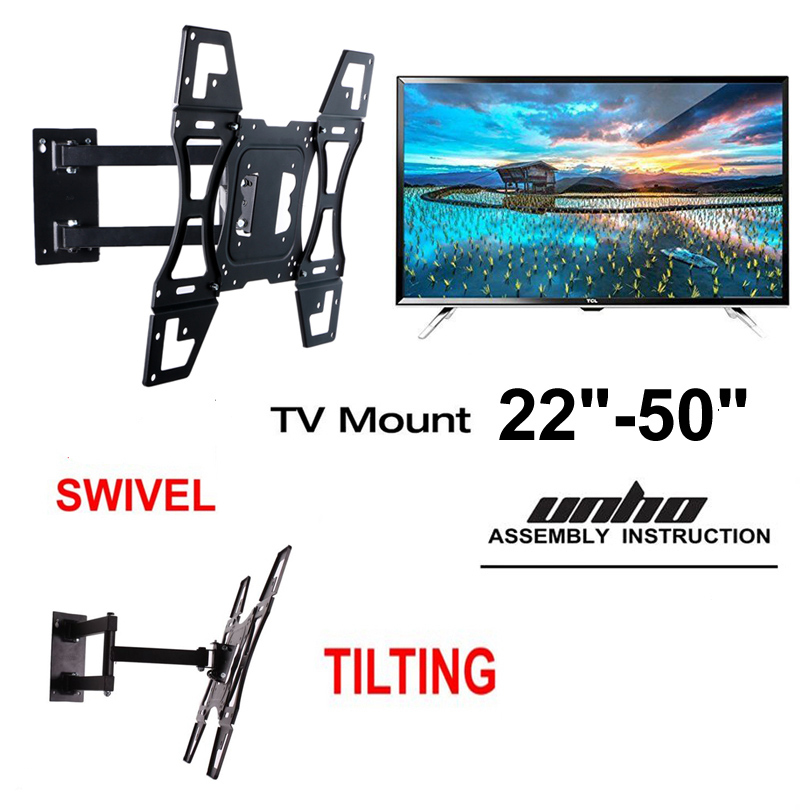 Adjustable Tv Wall Mount Tilt Swivel Lcd Tv Stand Bracket