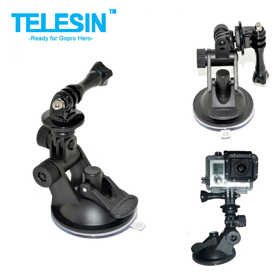 Car Suction Cup Mount Holder For Gopro Car Suction Cup Mount Holder Tripod Mount Adapter For Gopro Hero 3 Xiaomi yi Accessories (China (Mainland))
