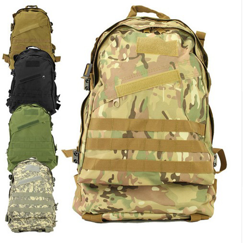 40L Outdoor Sports Backpacks Men Travel Bags Molle 3d Military Tactical Backpack Rucksack Camping Hiking Trekking Large Bags(China (Mainland))