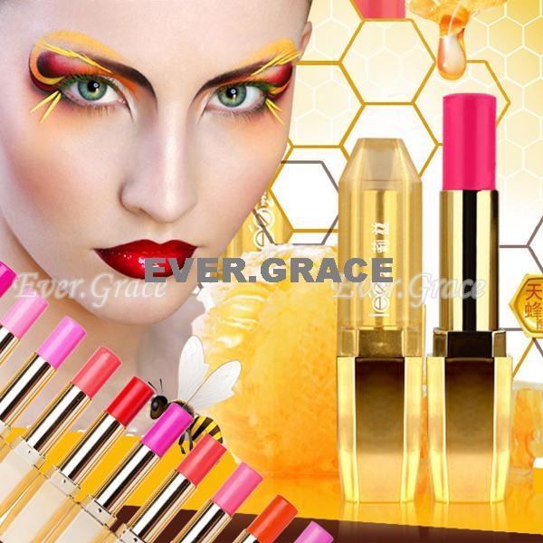 10 nudez cores maquiagem mel coleção batom Lip Gloss brilhante lápis Rouge