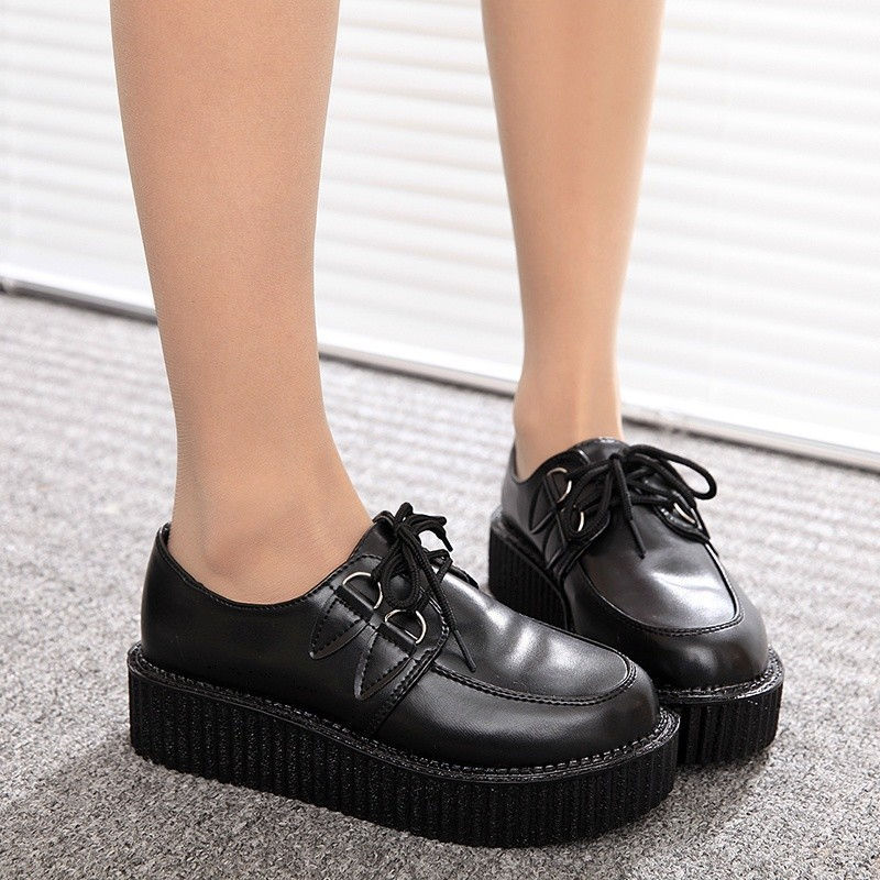 Size 35-41 Creepers Shoes Woman Casual Vintage plus size creepers platform shoes zapatos mujer Women Flats women Shoes