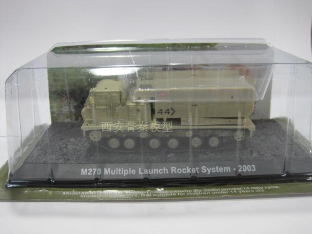 1:72 American M270 self-propelled multiple Rocket launch Vehicle Alloy Model Toy(China (Mainland))