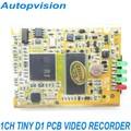 1CH MINI DVR PCB Board with D1 Resolution Remote control free shipping