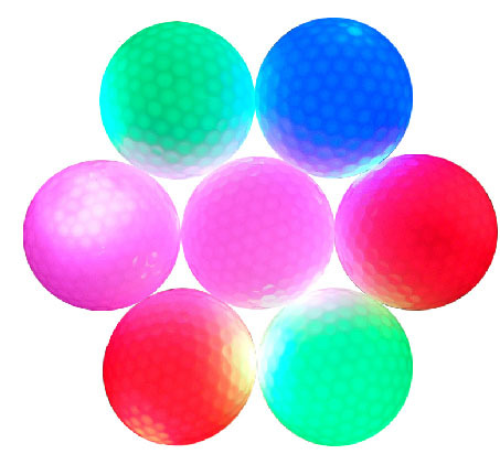 2015 newest hot sale high quality led golf ball for promotion gifts flashing golf For Night Time Golf Training(China (Mainland))