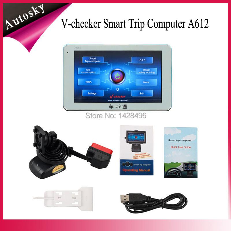New V-checker Smart Trip Computer A612-Trip Computer + GPS Navigator + TPMS + Oil statistics(China (Mainland))