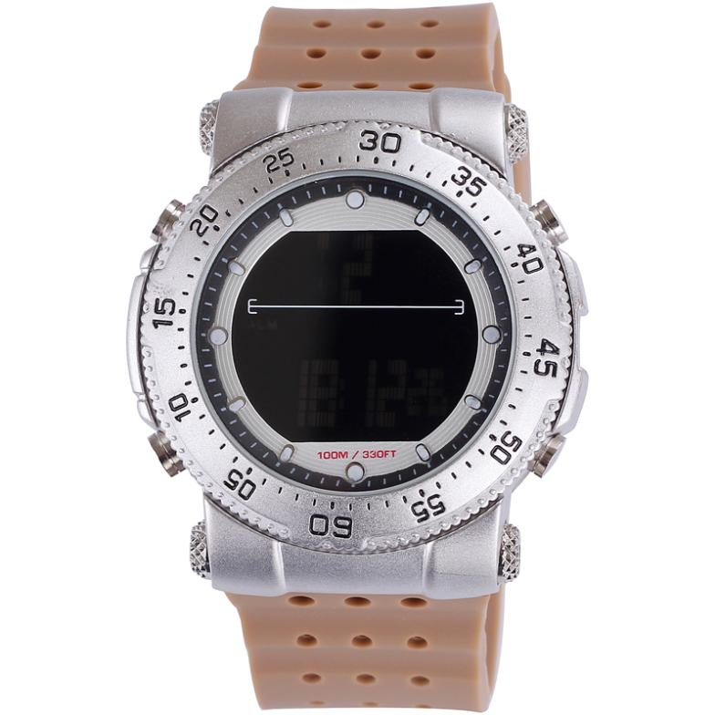 SHHORS alloy silicone multifunction electronic alarm dive waterproof casual watch digital sport men top quality free shipping(China (Mainland))