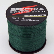 4 strands 500M 20lb*10+30lb*10+40lb*10+50lb*10+60lb*10+70lb*10 spectra braided fishing line.moss green.totally 60pcs(Hong Kong)
