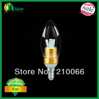 LED candle lights 10pcs/lot Free Shipping 220LM 3W Samsung Chip frosting dimmable bulbs E14 optional lamp base AC DC 12V