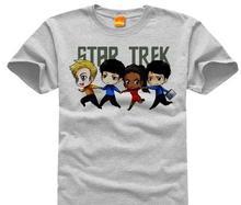 star trek spock Live Long and Prosper DIY men's  short sleeve T-shirt cotton Round collar 006 film and television