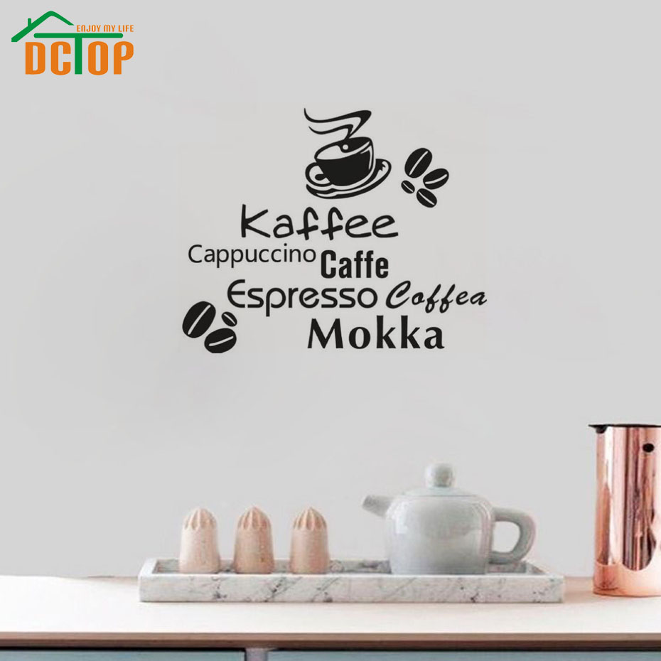 Modern Design DIY Wall Decals Vinyl Adhesive Art Design Removable Wall Stickers For Kitchen Home Decorative(China (Mainland))