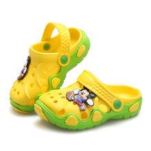 2019 אופנה חדשה קיץ ילדי דמויות מצוירות מערת נעלי בנים ובנות סנדלי מערכות נעלי בית החוף(China)