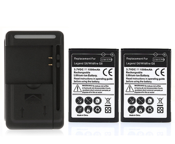 2x 1500mAh Battery +Charger For HTC Google Legend G6 Wildfire G8 Droid Incredible Droid Eris A3333 A3366 A3380 A6363 A6388 T5588