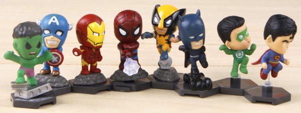 Free Shipping 8pcs/1set Q version Super Hero Factory Hulk / IronMan / Captain America Avengers robot model Action Figure Toys(China (Mainland))