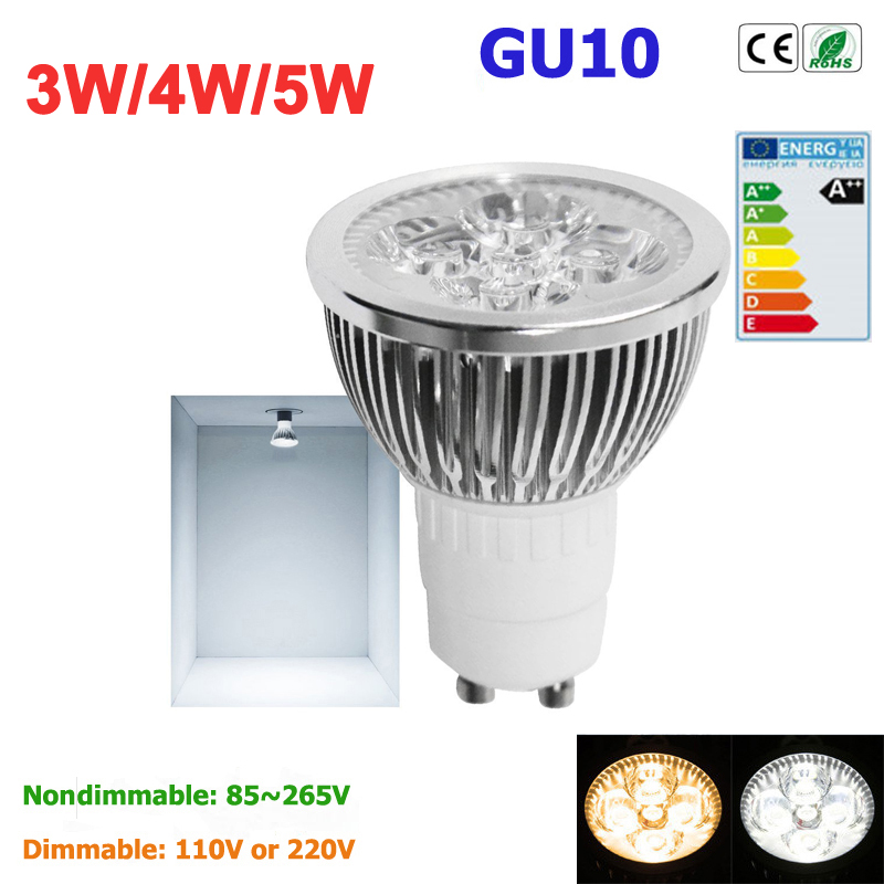 1pcs Super Bright 3W 4W 5W GU10 LED Bulbs Light 110V 220V Dimmable Led Spotlights warm/ cold white Natural White lamps(China (Mainland))