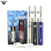 electronic cigarette 60W Sub two kit 2200 mah battery Vaporizer E cigarette airflow control sub ohm tank e cig vape pen
