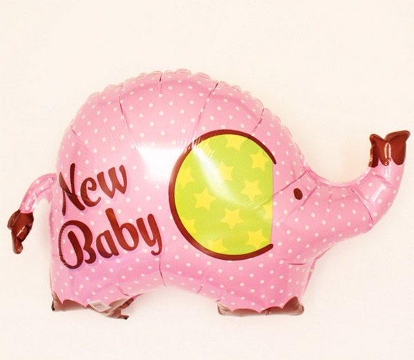 20pc lot new baby elephant baby shower helium balloon foil balloons