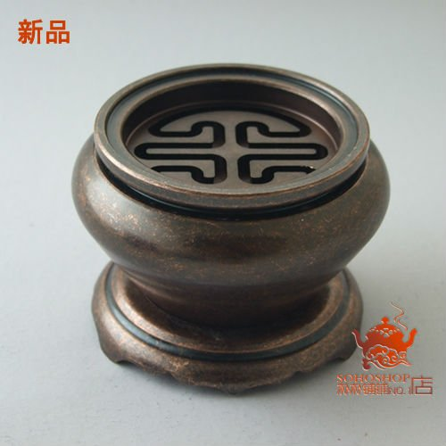 New! Pure copper incense censers,1100g,big metal incense burner. Movable seal screen is an attractive lid. For powder,granular.(China (Mainland))