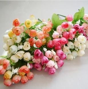Plastic flower  silk flower  artificial flowers  artificial flowers  artificial flowers  15 Spring European stars bud