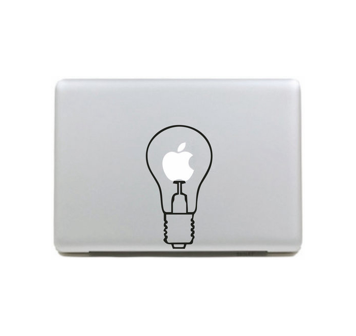 Light bulb Vinyl Decal sticker Laptop Skins Case For Apple Macbook Pro Air Mac 11 13 15 inch MH-566(China (Mainland))