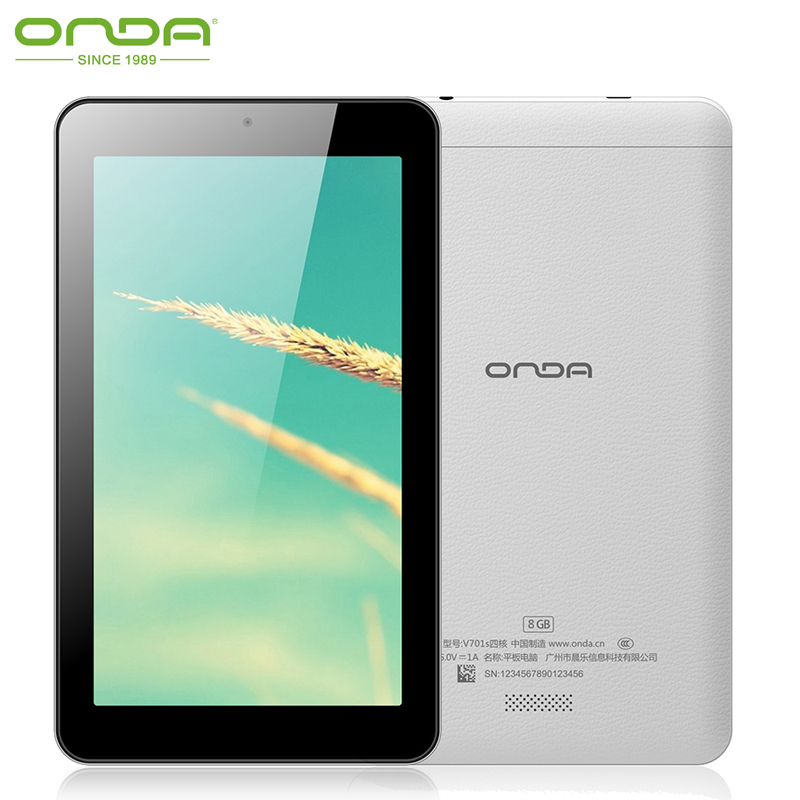 Free Shipping Onda V701s Quad Core Tablet PC 7 inch 1024*600 Allwinner A31S 8GB WiFi Android 4.4 Cheap Tablets(China (Mainland))