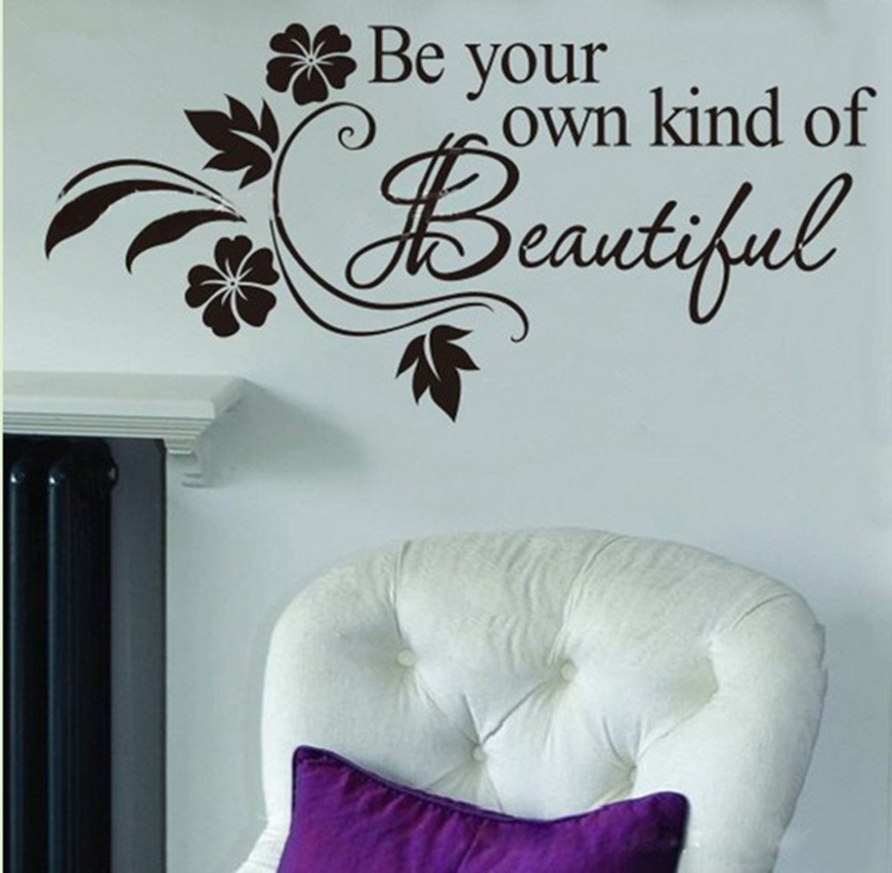 be your own kind beautiful marilyn monroe wall decals girls bedroom decor