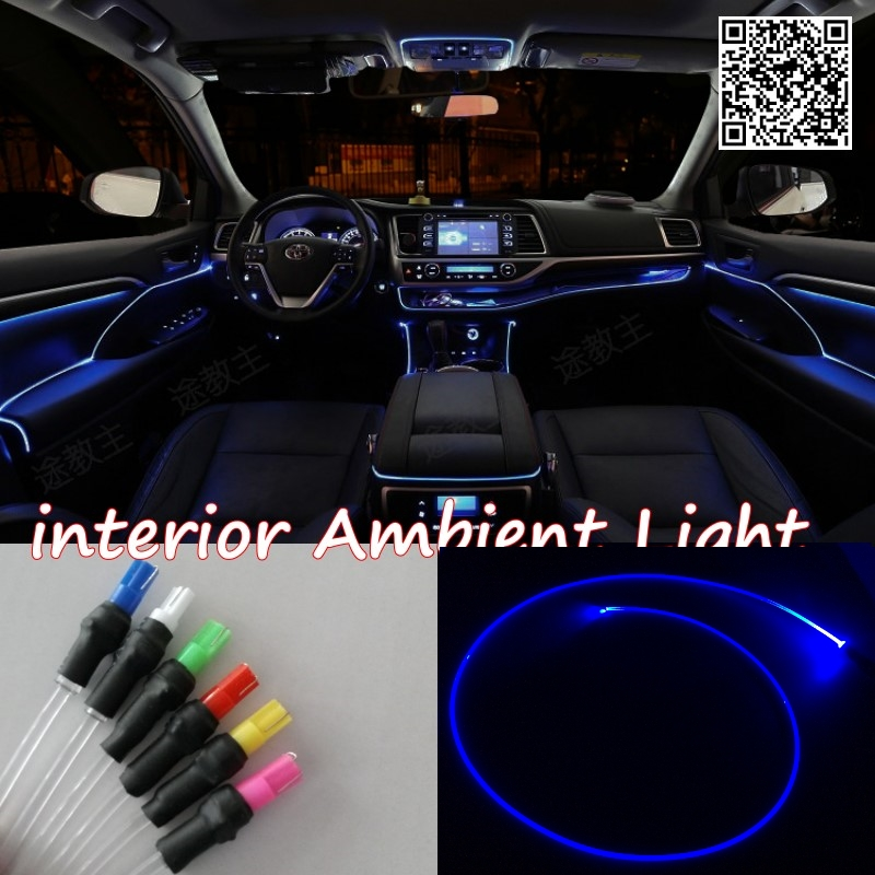For Suzuki Wagon R 1993-2012 Car Interior Ambient Light Panel illumination For Car Inside Cool Strip Light Optic Fiber Band(China (Mainland))